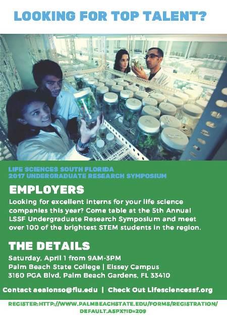 - LIFE SCIENCES SOUTH FLORIDA STEM UNDERGRADUATE RESEARCH